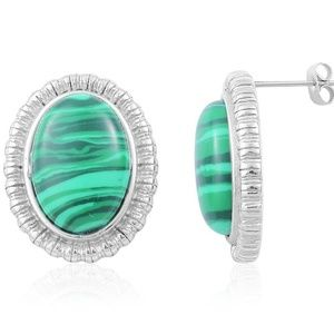 Jewelry - Lab Created Malachite Earrings
